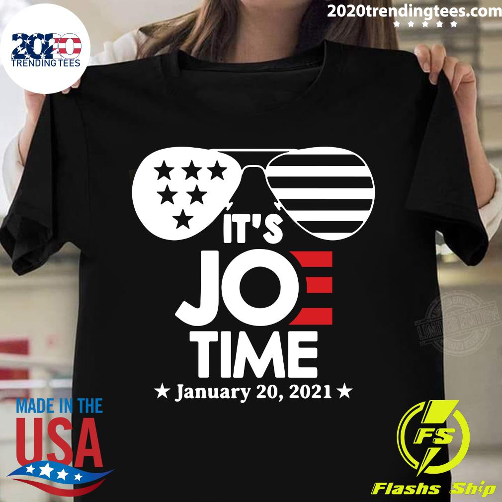 Glasses Us Flag Its Joe Time January 20 2021 Shirt