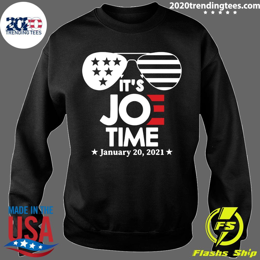 Glasses Us Flag Its Joe Time January 20 2021 Shirt Sweater
