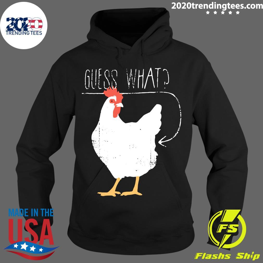 Haircloud Women Guess What Chicken Butt Shirt Hoodie