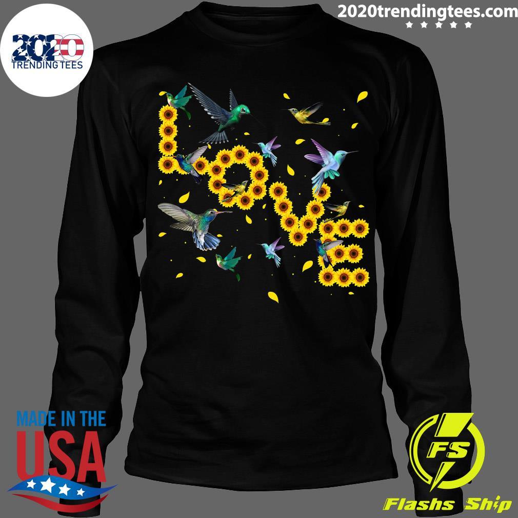 Hummingbird Lover Sunflowers Bird Lovers Shirt Longsleeve