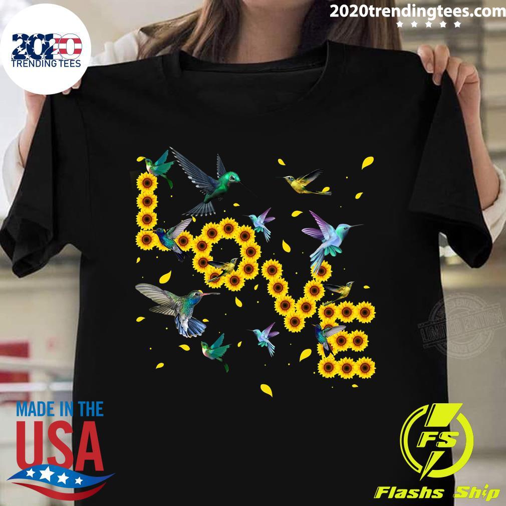 Hummingbird Lover Sunflowers Bird Lovers Shirt