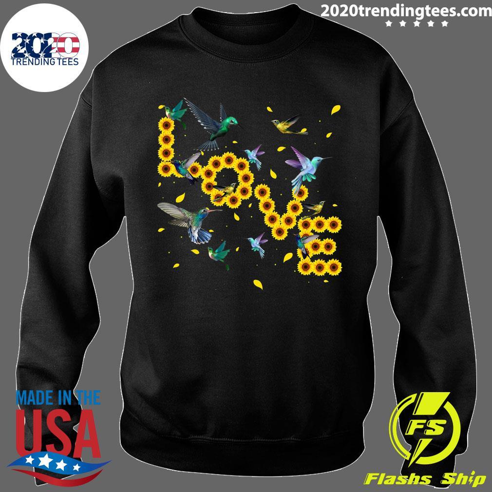 Hummingbird Lover Sunflowers Bird Lovers Shirt Sweater