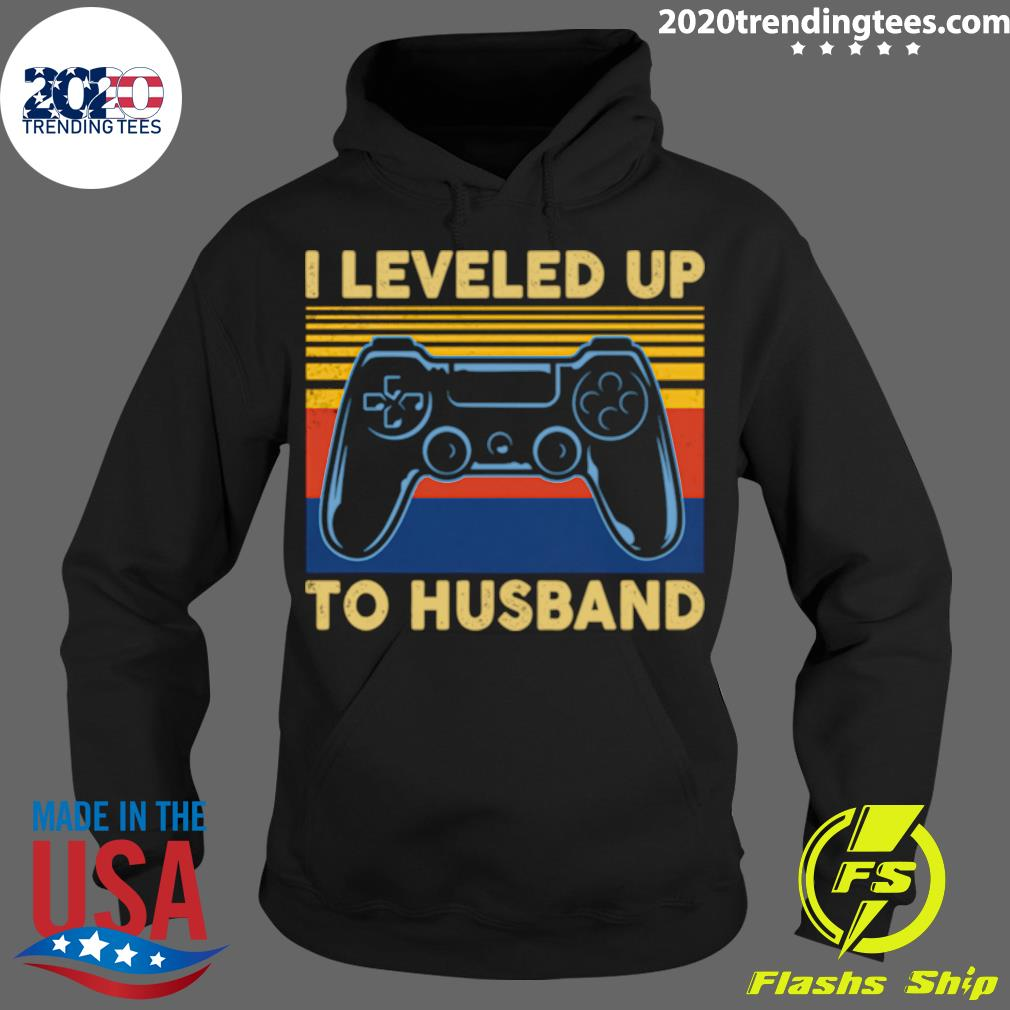 I Leveled Up To Husband Video Games Become To Groom Shirt Hoodie