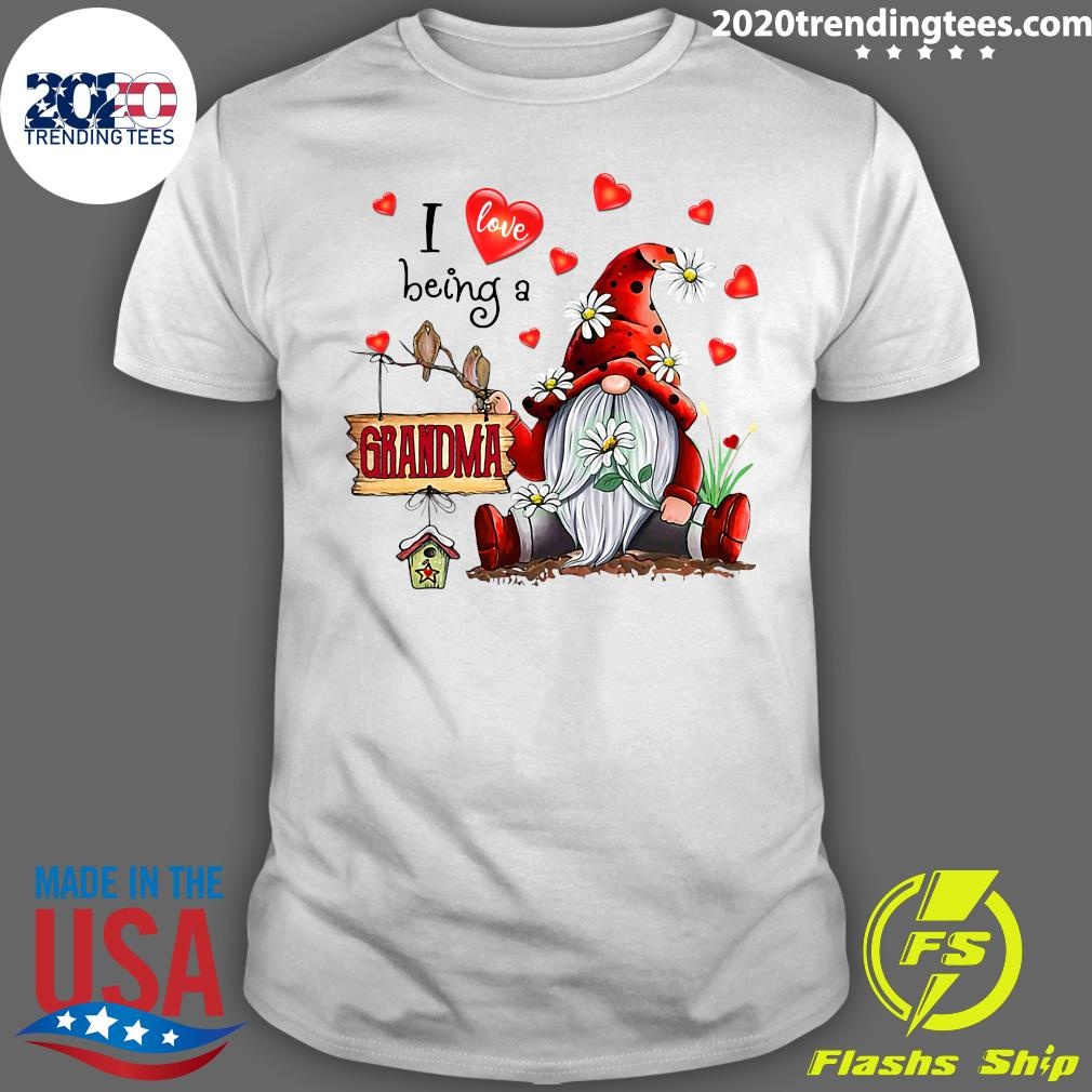 I Love Being A Grandma Gnome Valentine's Day Shirt
