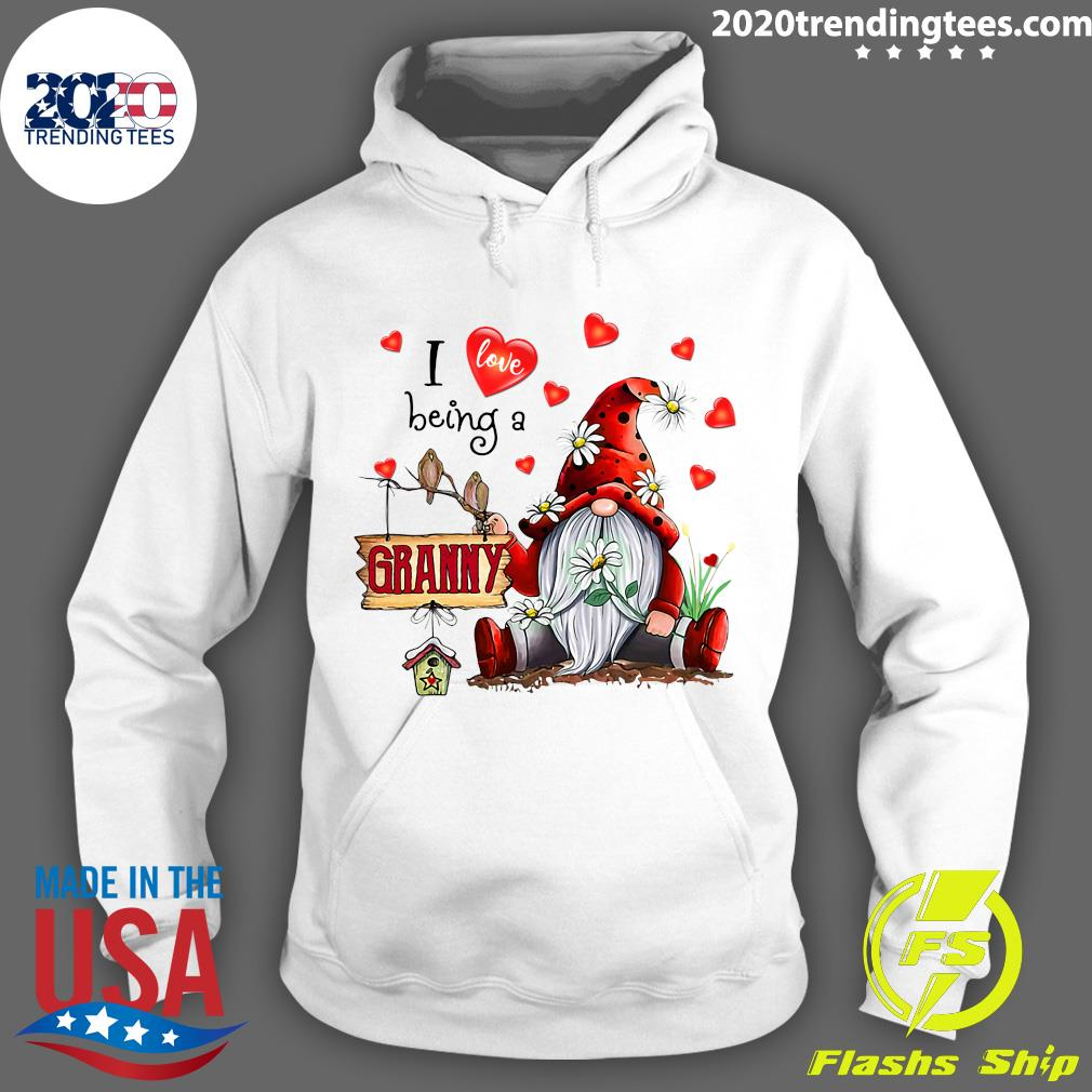 I Love Being A Granny Gnome Valentine's Day Shirt Hoodie