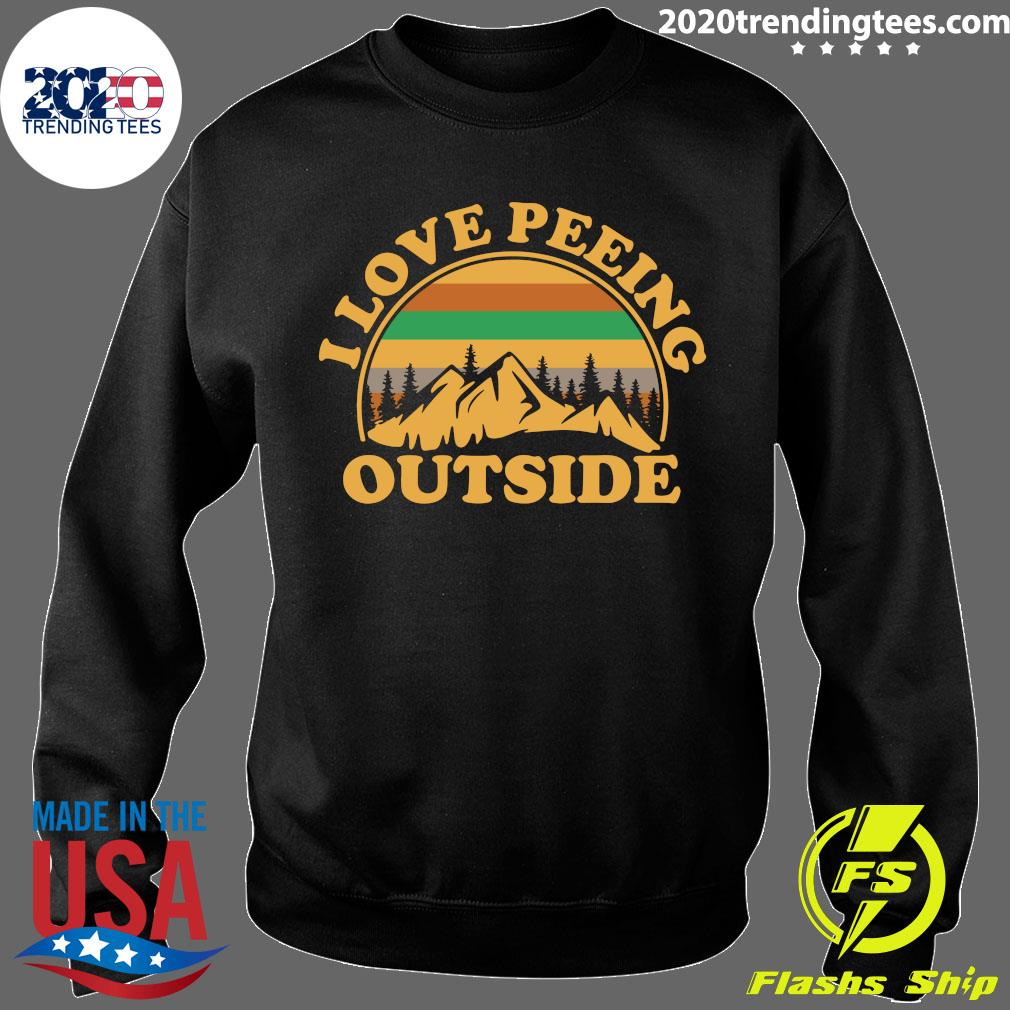 I Love Peeing Outside Vintage Shirt Sweater
