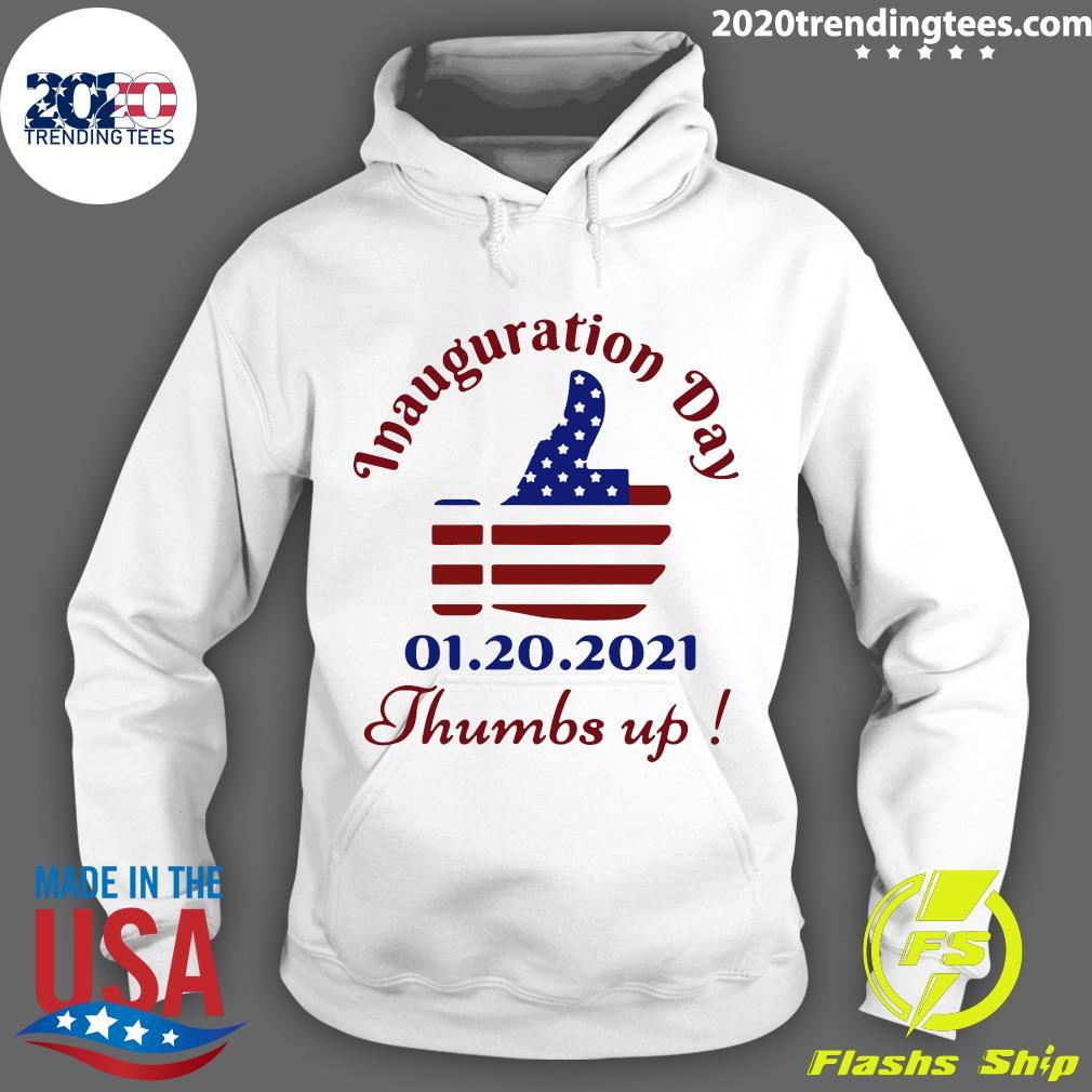 Inauguration Day 1 20 2021 Thumbs Like Icon American Flag Shirt Hoodie