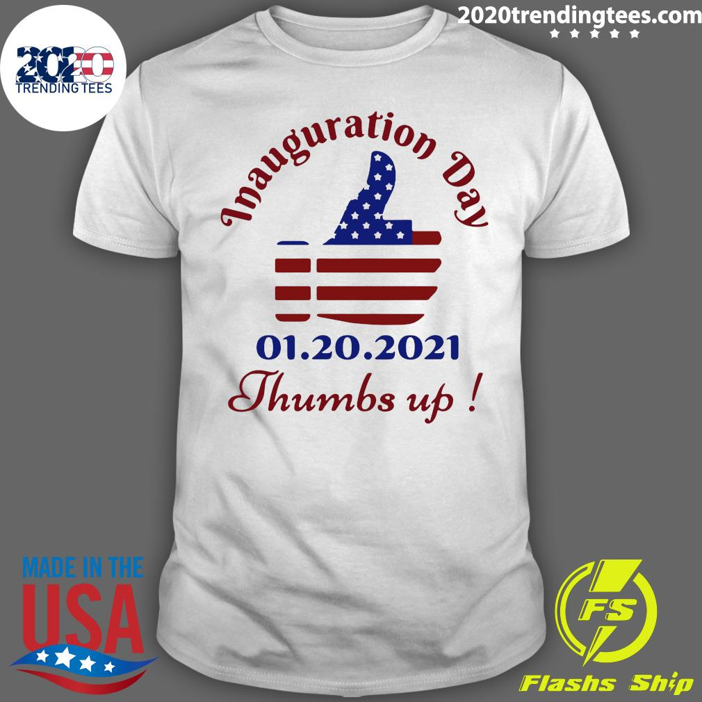 Inauguration Day 1 20 2021 Thumbs Like Icon American Flag Shirt