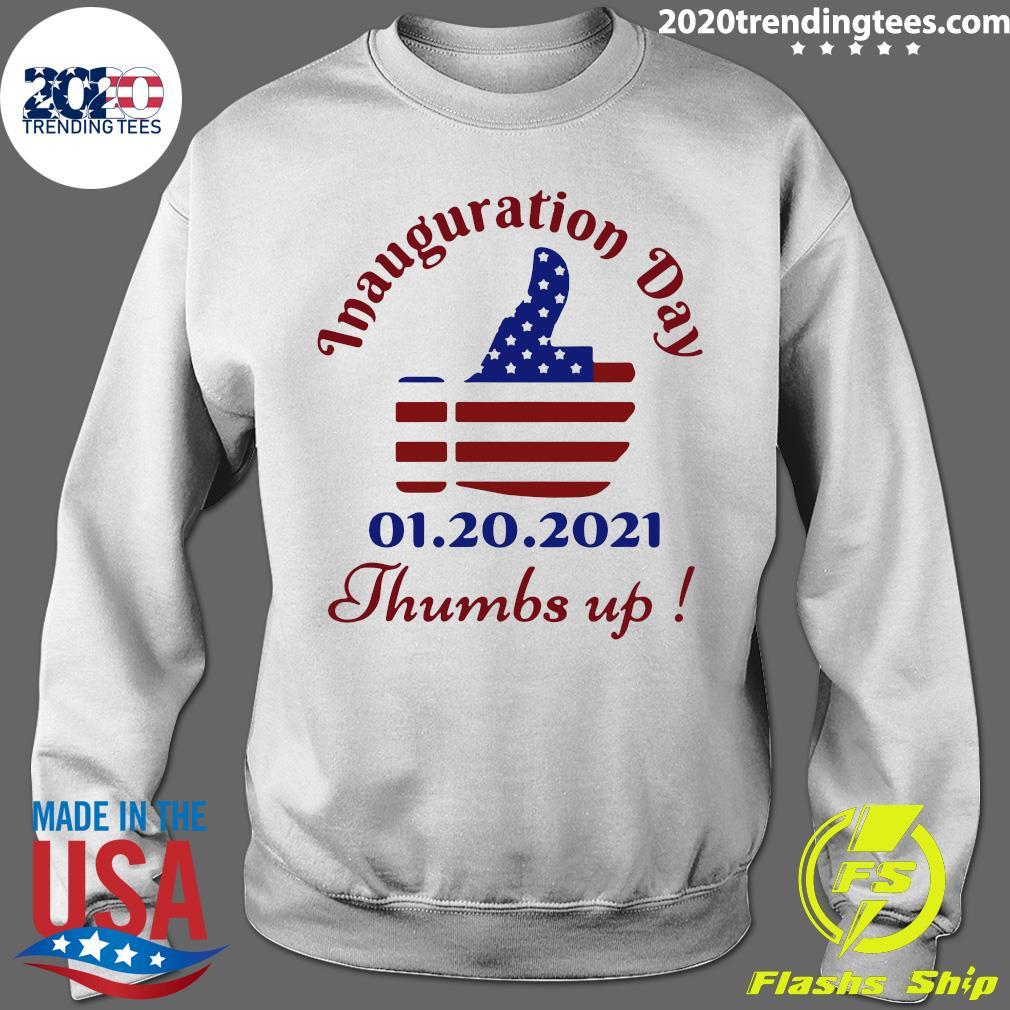 Inauguration Day 1 20 2021 Thumbs Like Icon American Flag Shirt Sweater