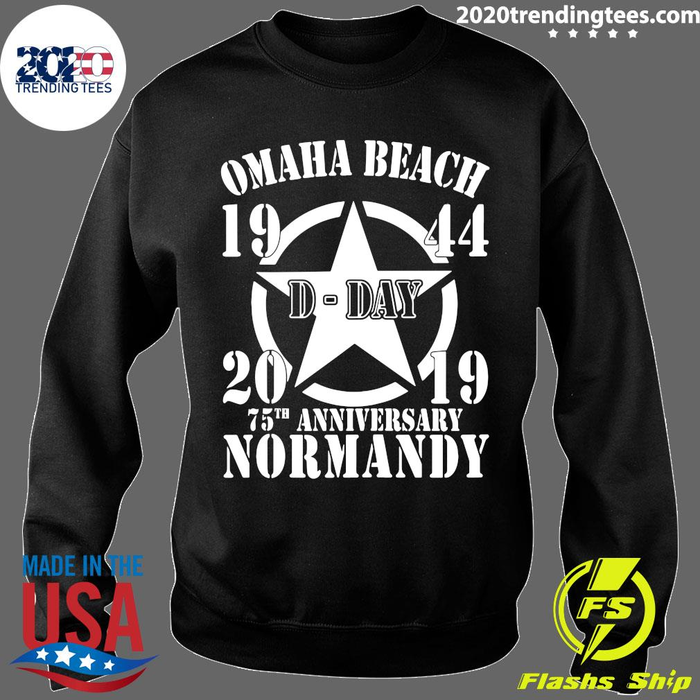 Omaha Beach D-Day 1944-2019 Star 75th Anniversary Normandy Shirt Sweater