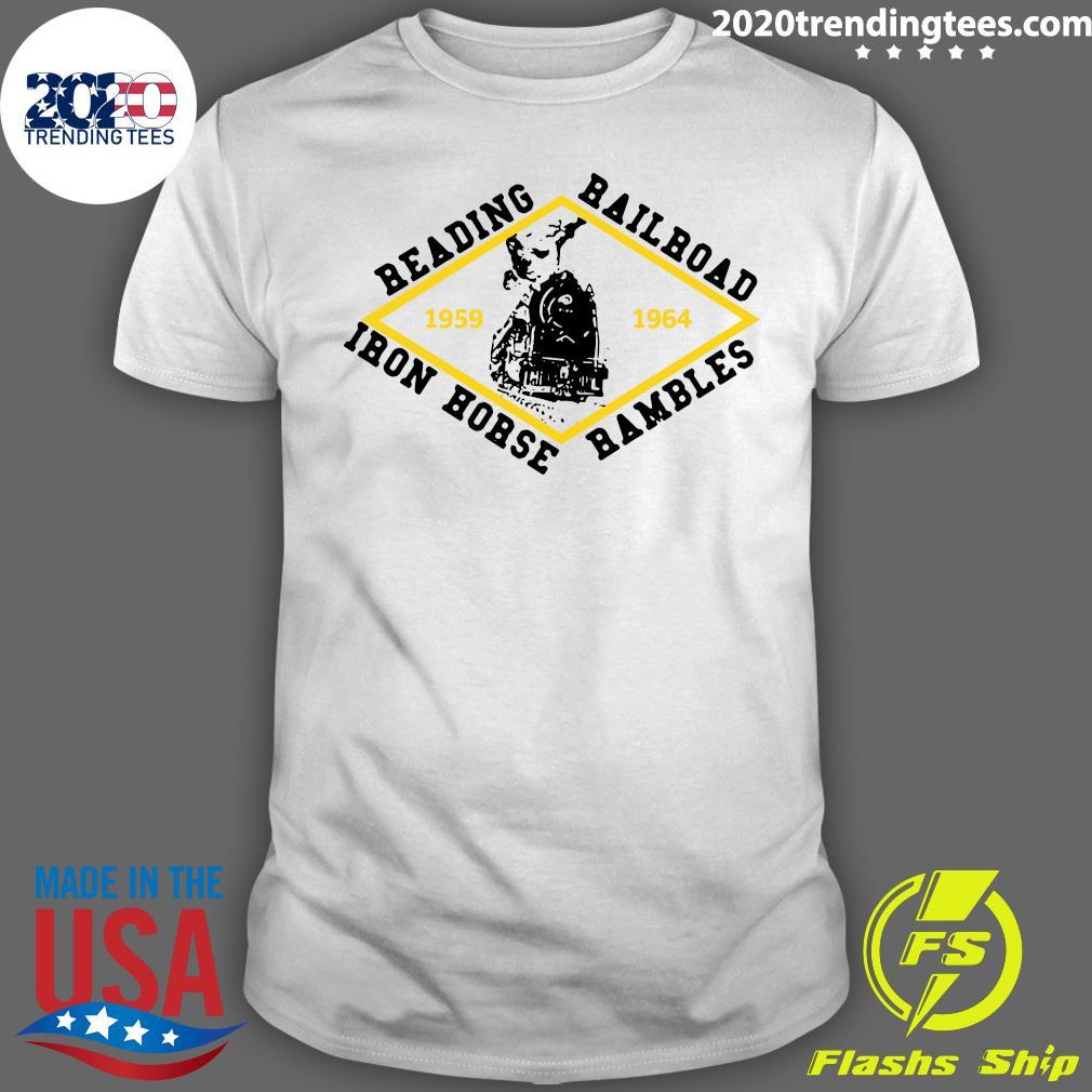Reading Railroad Iron Horse Rambles 1959 1964 Logo Shirt