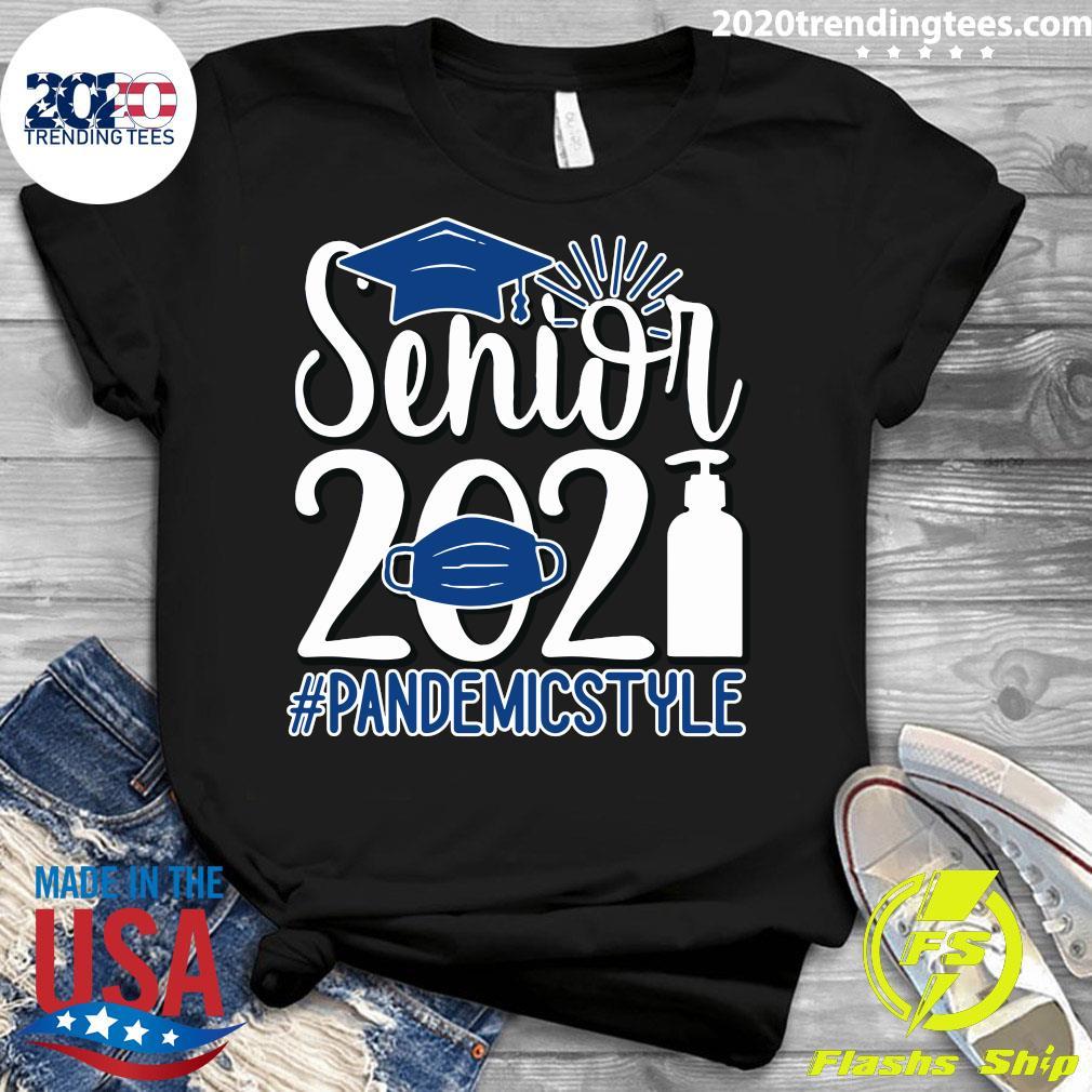 Senior Face Mask 2021 Pandemic Style Shirt Ladies tee