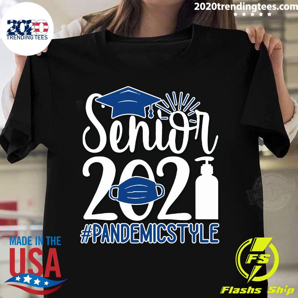 Senior Face Mask 2021 Pandemic Style Shirt