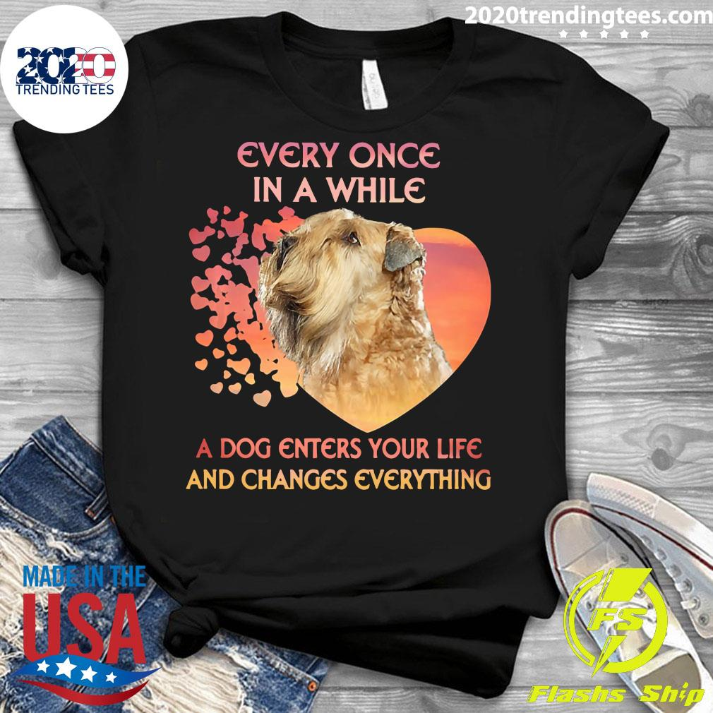 Shih Tzu Every Once In A While A Dog Enters Your Life And Changes Everything Shirt Ladies tee