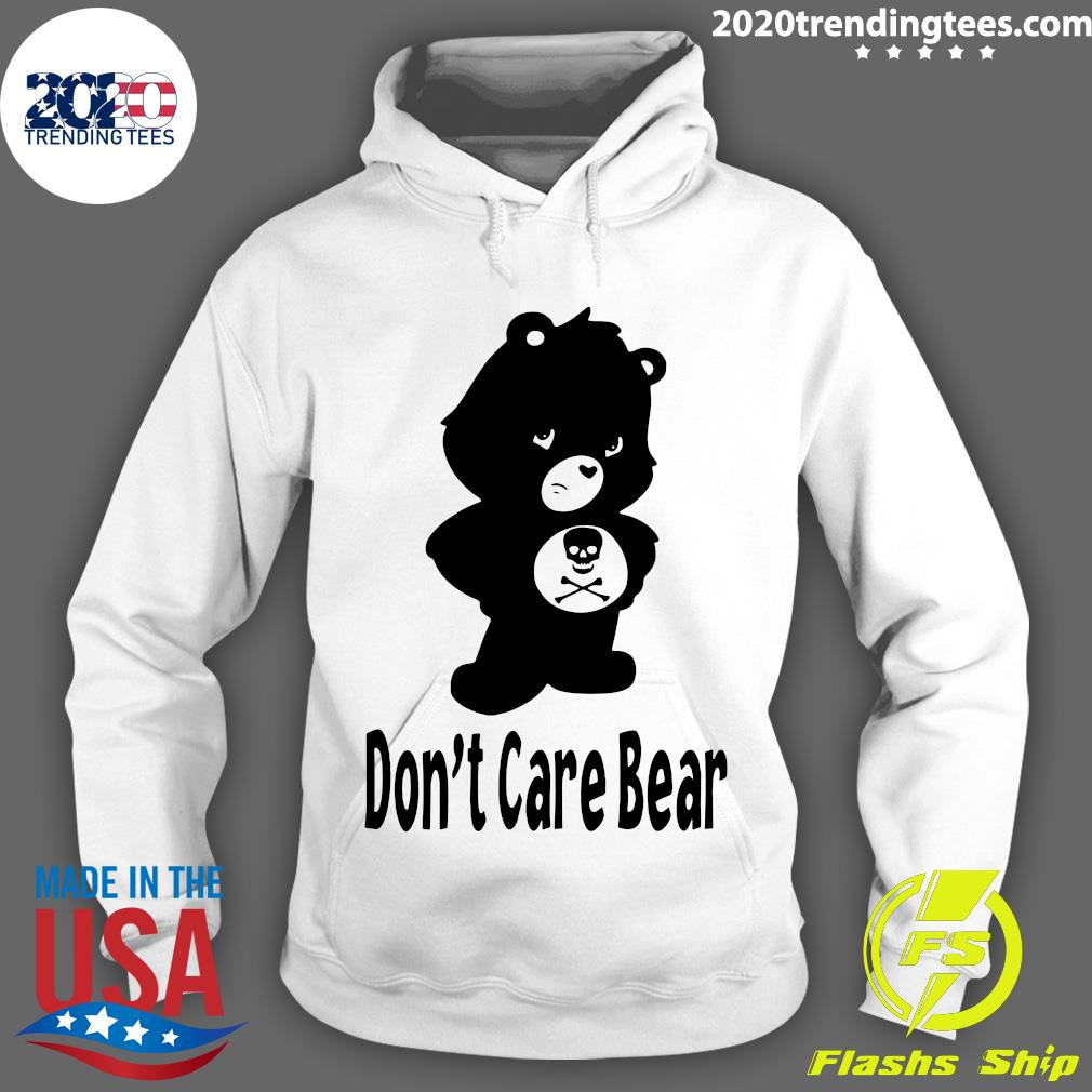 Skull Don't Care Bear Black Shirt Hoodie