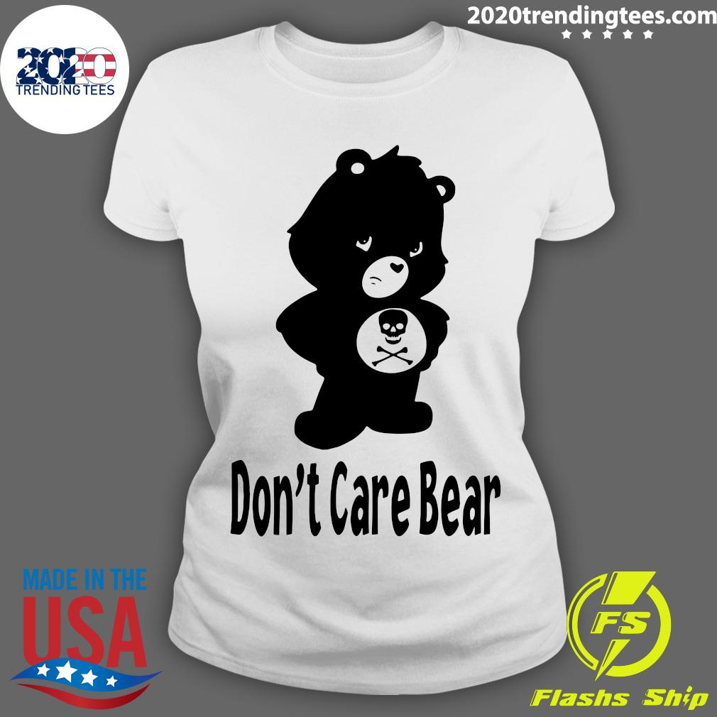 Skull Don't Care Bear Black Shirt Ladies tee