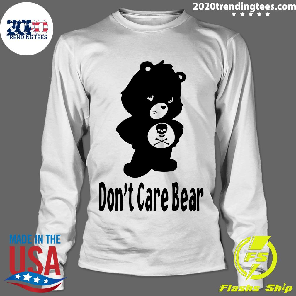 Skull Don't Care Bear Black Shirt Longsleeve