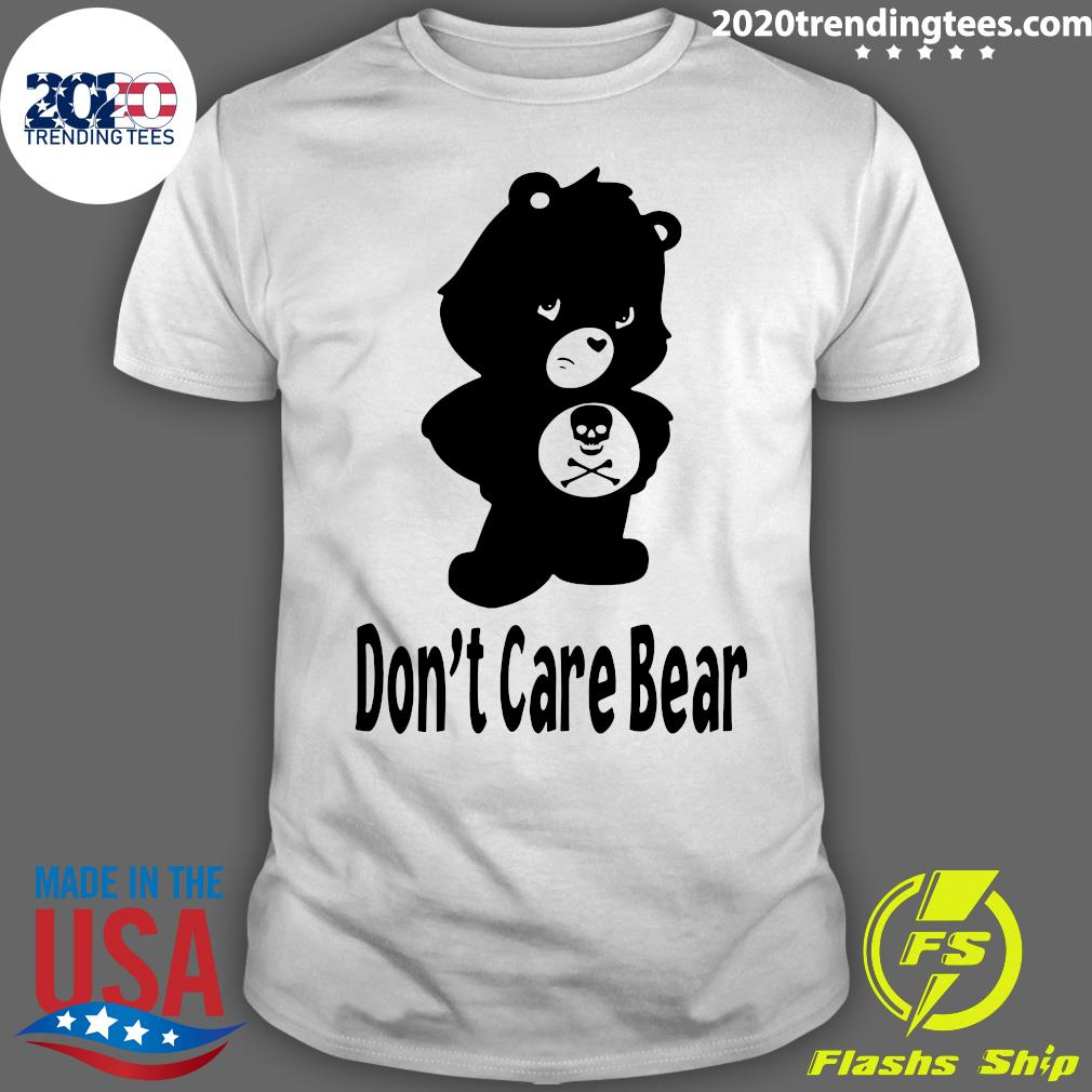 Skull Don't Care Bear Black Shirt