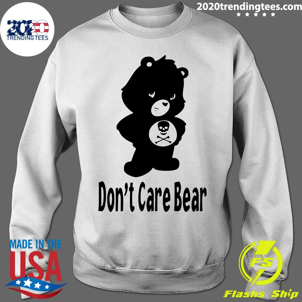 Skull Don't Care Bear Black Shirt Sweater