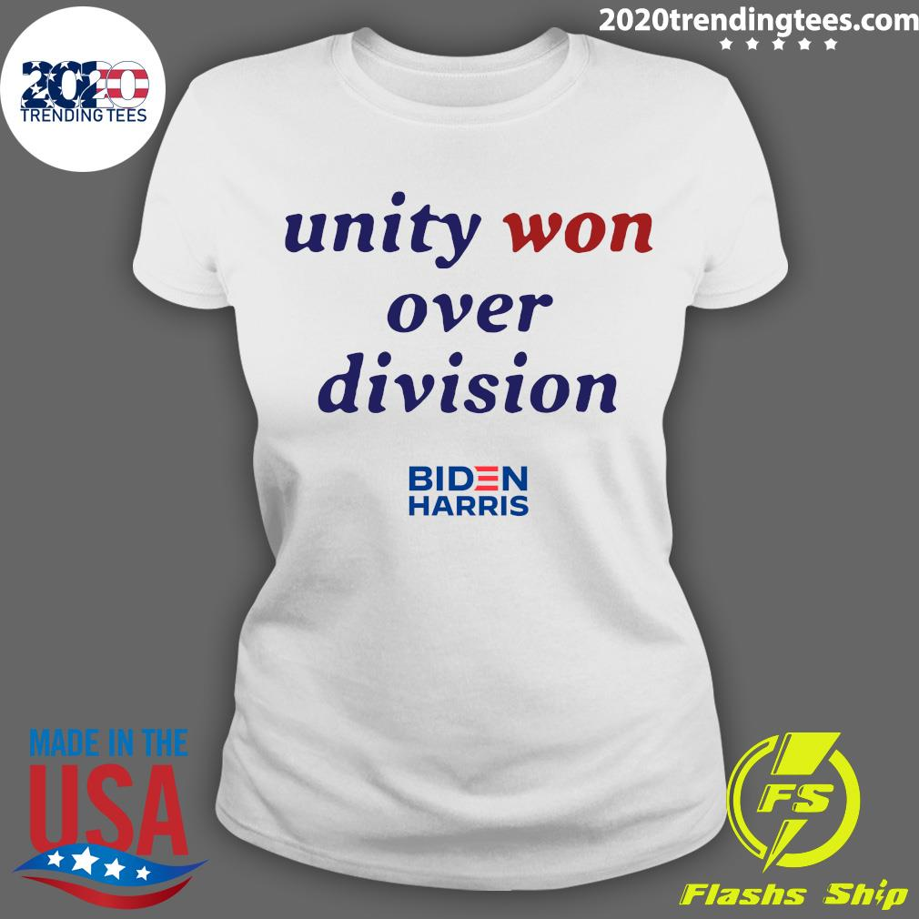 Unity Won Over Division Biden Harris Shirt Ladies tee