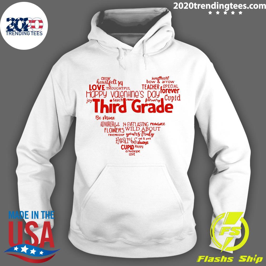 Valentine Heart Teacher Name Grade Personalized Raglan Shirt Hoodie