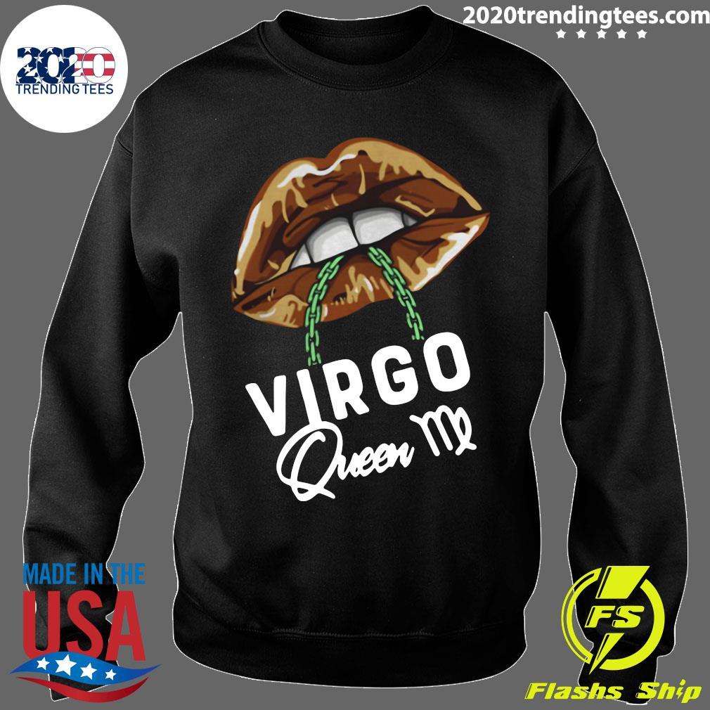 Virgo Queen Lips Sexy Black Afro Queen September Shirt Sweater