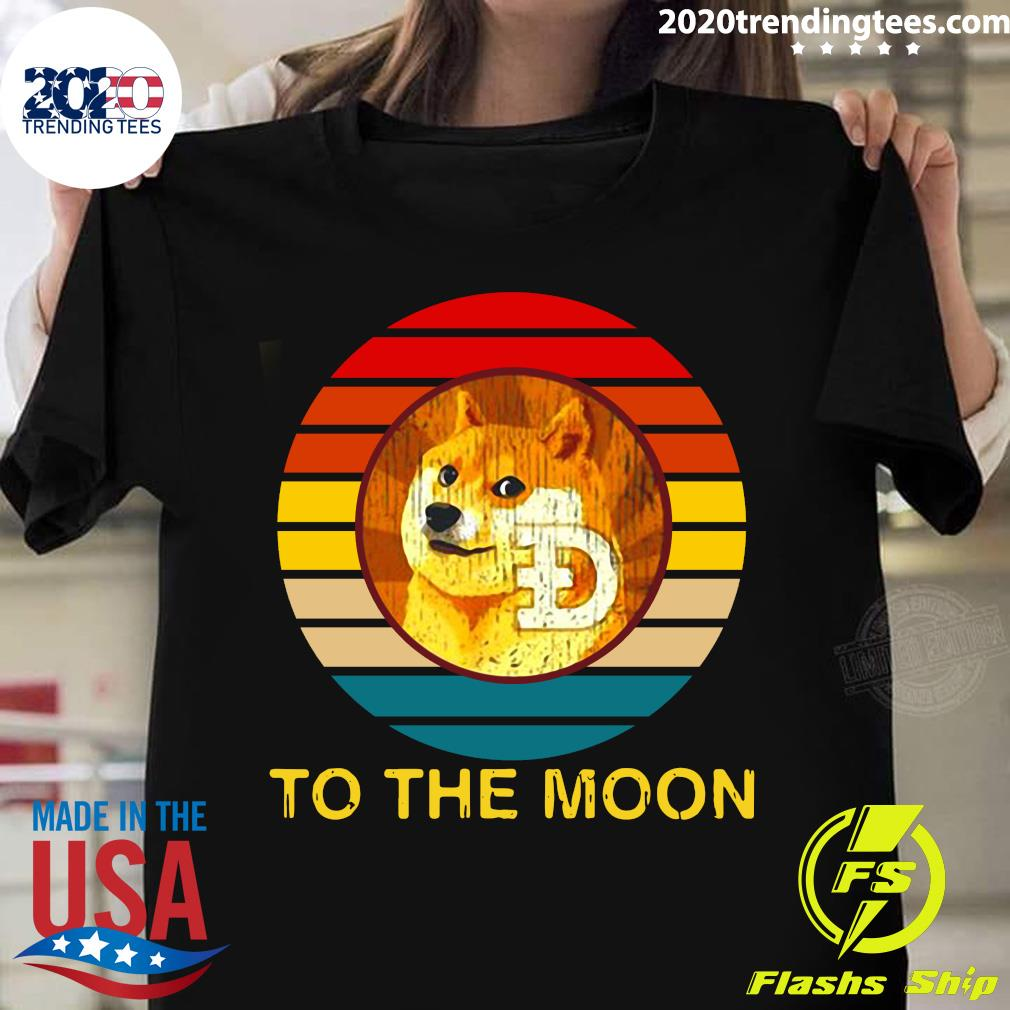 Dogecoin Doge To The Moon Vintage Shirt